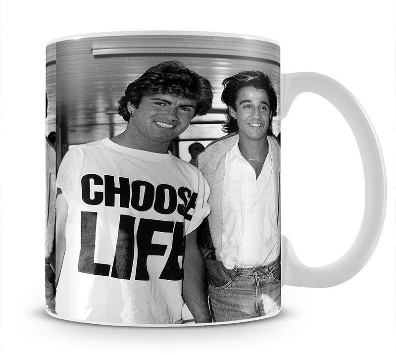 Whams George Michael and George Ridgeley Mug - Canvas Art Rocks - 1