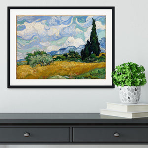 Wheat Field with Cypresses Framed Print - Canvas Art Rocks - 1