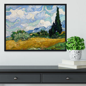 Wheat Field with Cypresses Framed Print - Canvas Art Rocks - 2