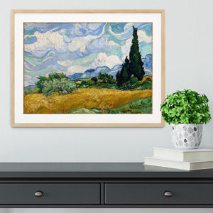 Wheat Field with Cypresses Framed Print - Canvas Art Rocks - 3