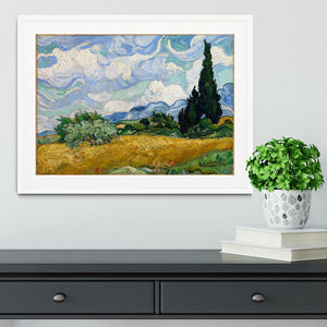 Wheat Field with Cypresses Framed Print - Canvas Art Rocks - 5