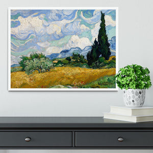 Wheat Field with Cypresses Framed Print - Canvas Art Rocks -6