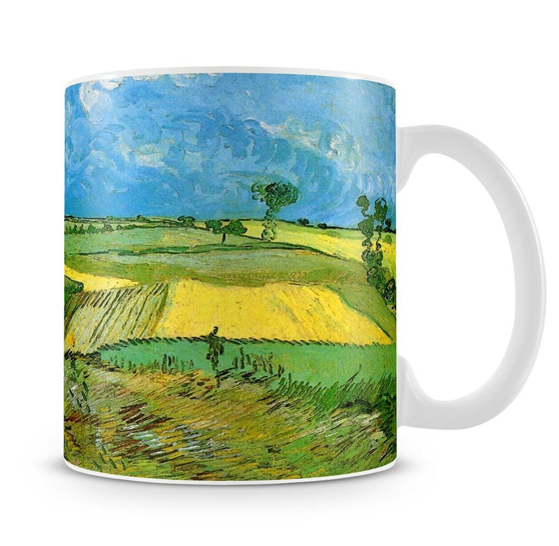Wheat Fields at Auvers Under Clouded Sky by Van Gogh Mug - Canvas Art Rocks - 4