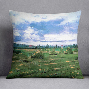 Wheat Fields with Stacks by Van Gogh Cushion