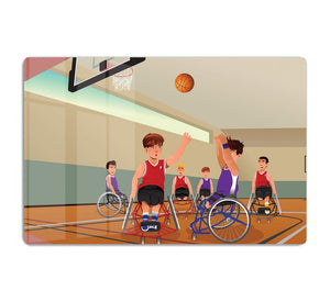 Wheelchairs playing basketball HD Metal Print