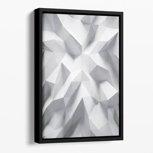 White 3D Background Floating Framed Canvas - Canvas Art Rocks - 1
