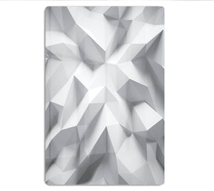 White 3D Background HD Metal Print - Canvas Art Rocks - 1