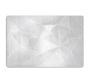 White Geometric Triangles HD Metal Print - Canvas Art Rocks - 1
