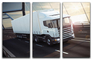White Lorries 3 Split Panel Canvas Print - Canvas Art Rocks - 1