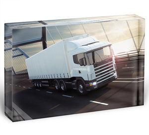 White Lorries Acrylic Block - Canvas Art Rocks - 1