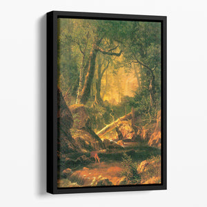 White Mountains New Hampshire 2 by Bierstadt Floating Framed Canvas - Canvas Art Rocks - 1