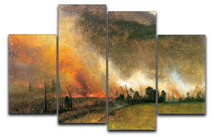 White Mountains New hampshire 1 by Bierstadt 4 Split Panel Canvas - Canvas Art Rocks - 1