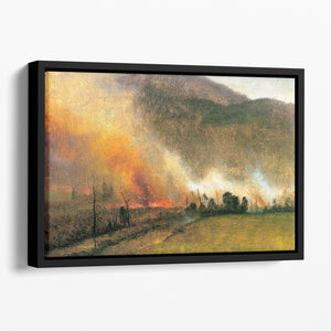 White Mountains New hampshire 1 by Bierstadt Floating Framed Canvas - Canvas Art Rocks - 1
