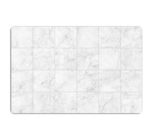 White Tiled Marble HD Metal Print - Canvas Art Rocks - 1