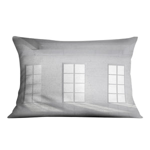 White brick loft with window Cushion - Canvas Art Rocks - 4