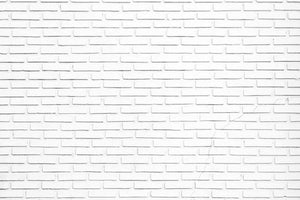White brick wall Wall Mural Wallpaper - Canvas Art Rocks - 1