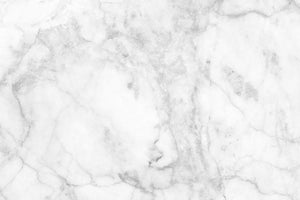 White gray marble patterned Wall Mural Wallpaper - Canvas Art Rocks - 1