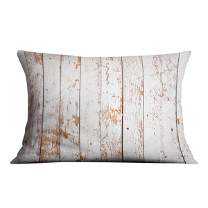 White grunge wooden Cushion - Canvas Art Rocks - 4