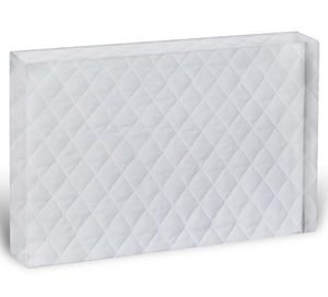 White mattress bedding Acrylic Block - Canvas Art Rocks - 1