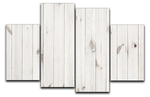 White wood texture background 4 Split Panel Canvas - Canvas Art Rocks - 1