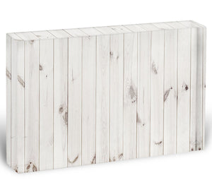 White wood texture background Acrylic Block - Canvas Art Rocks - 1