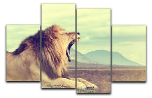 Wild african lion 4 Split Panel Canvas - Canvas Art Rocks - 1