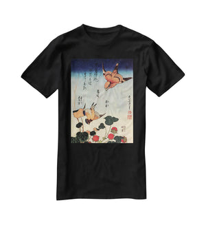 Wild strawberries and birds by Hokusai T-Shirt - Canvas Art Rocks - 1