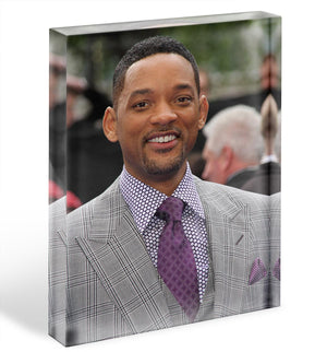 Will Smith In Suit Acrylic Block - Canvas Art Rocks - 1