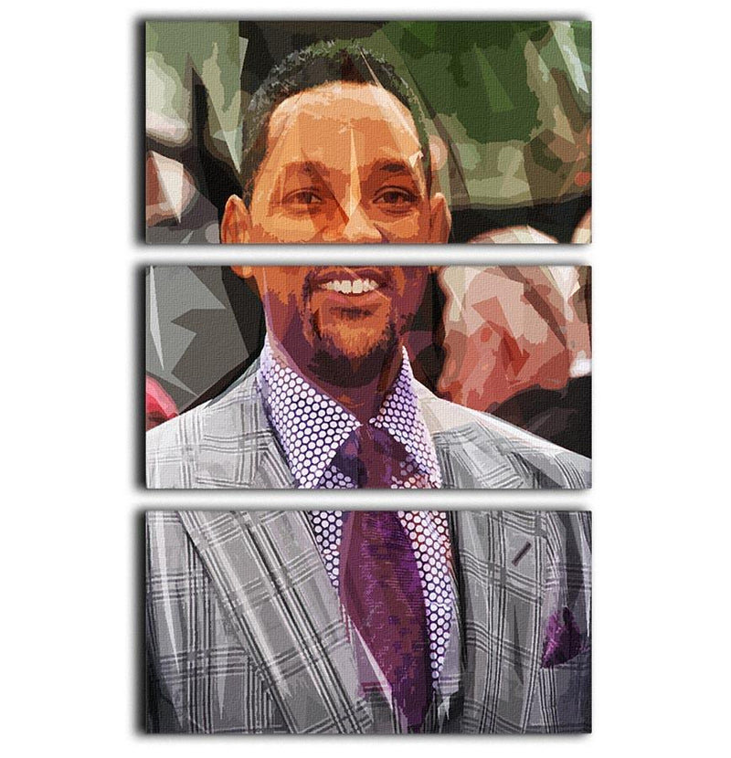 Will Smith Pop Art 3 Split Panel Canvas Print - Canvas Art Rocks - 1