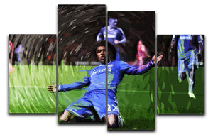 Willian Chelsea 4 Split Panel Canvas  - Canvas Art Rocks - 1