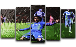 Willian Chelsea 5 Split Panel Canvas  - Canvas Art Rocks - 1