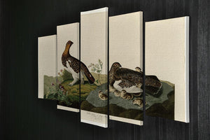 Willow Grouse by Audubon 5 Split Panel Canvas - Canvas Art Rocks - 2