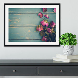 Wilted Flower Vintage Background Framed Print - Canvas Art Rocks - 1