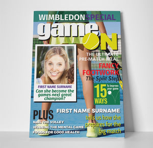 Wimbledon Special Magazine Cover Spoof Canvas Print