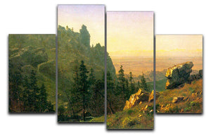 Wind River Country by Bierstadt 4 Split Panel Canvas - Canvas Art Rocks - 1