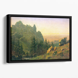 Wind River Country by Bierstadt Floating Framed Canvas - Canvas Art Rocks - 1