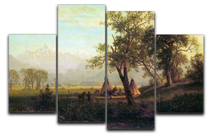 Wind River Mountains in Nebraska by Bierstadt 4 Split Panel Canvas - Canvas Art Rocks - 1