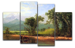 Wind River Mountains landscape in Wyoming by Bierstadt 4 Split Panel Canvas - Canvas Art Rocks - 1