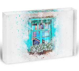 Window Painting Acrylic Block - Canvas Art Rocks - 1