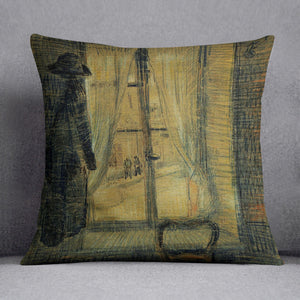 Window in the Bataille Restaurant by Van Gogh Cushion