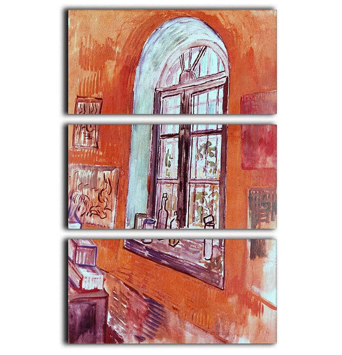 Window of Vincent s Studio at the Asylum by Van Gogh 3 Split Panel Canvas Print