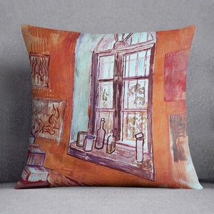 Window of Vincent s Studio at the Asylum by Van Gogh Cushion