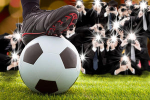 Winner soccer player feet on field Wall Mural Wallpaper - Canvas Art Rocks - 1