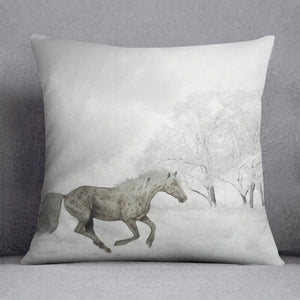 Winter Horse Cushion