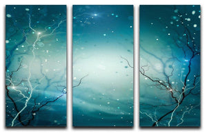 Winter Nature Abstract 3 Split Panel Canvas Print - Canvas Art Rocks - 1