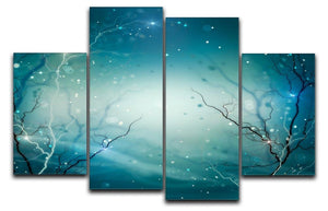 Winter Nature Abstract 4 Split Panel Canvas  - Canvas Art Rocks - 1
