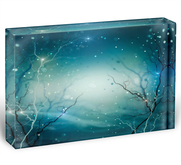 Winter Nature Abstract Acrylic Block