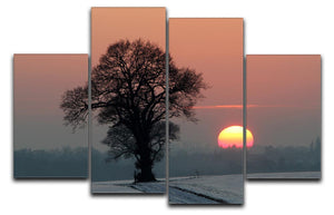 Winter Sunset 4 Split Panel Canvas - Canvas Art Rocks - 1