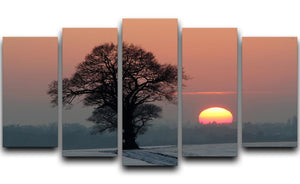 Winter Sunset 5 Split Panel Canvas - Canvas Art Rocks - 1