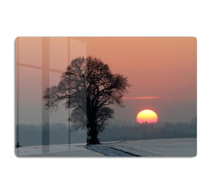 Winter Sunset HD Metal Print - Canvas Art Rocks - 1